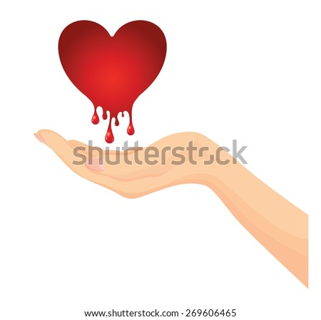 vector of beautiful woman hand