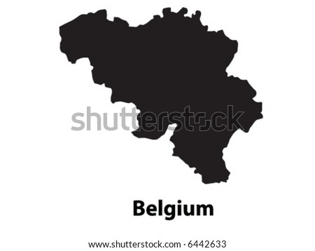Vector of Belgium - stock vector