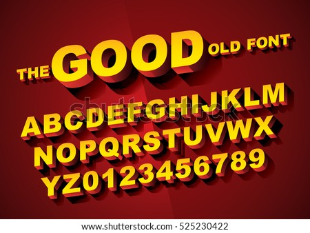 Vector of big retro 3d alphabet - Shutterstock ID 525230422