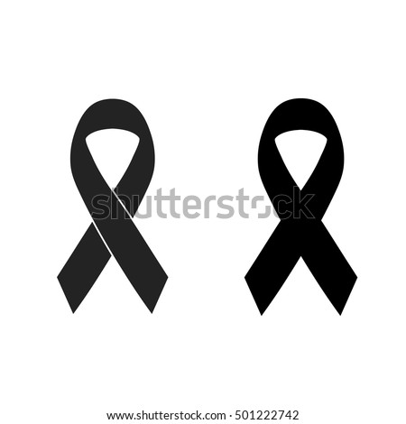 vector of black ribbon mourning