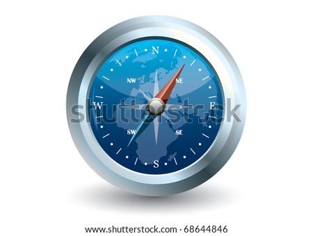 Vector Of Blue Compass - 68644846 : Shutterstock