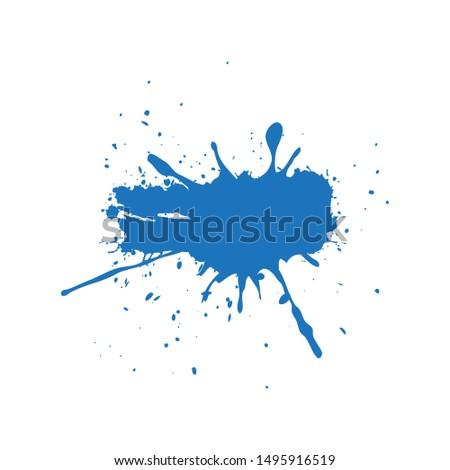 Vector of blue ink splashes, ink blots. Eps 10 vector illustration.