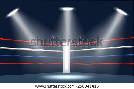 vector of boxing ring corner