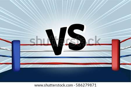 vector of boxing ring corner