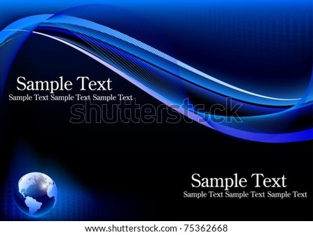Vector of business card with earth