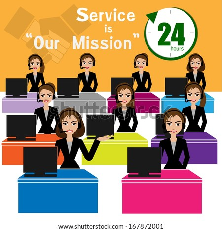 vector of call center for best