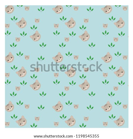vector of cat and pattern