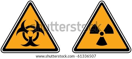 Vector of Caution and hazard signs
