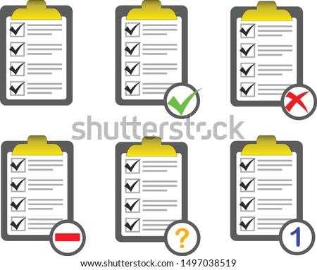 vector of checklist icon sets
