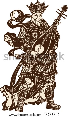 vector of chinese ancient