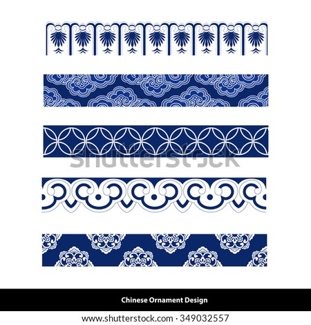 vector of chinese patterns