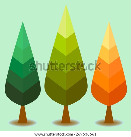 vector of colorful pine tree