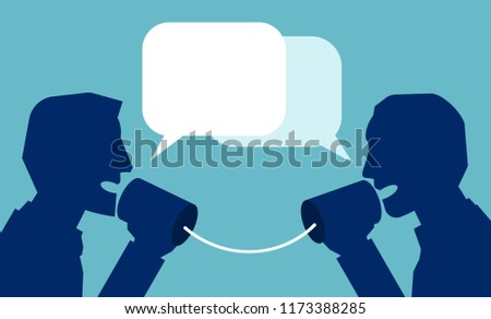 Vector of communication in business concept