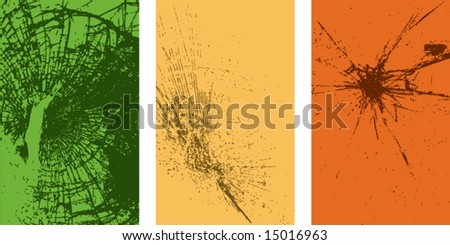 Vector of cracks on glass-9