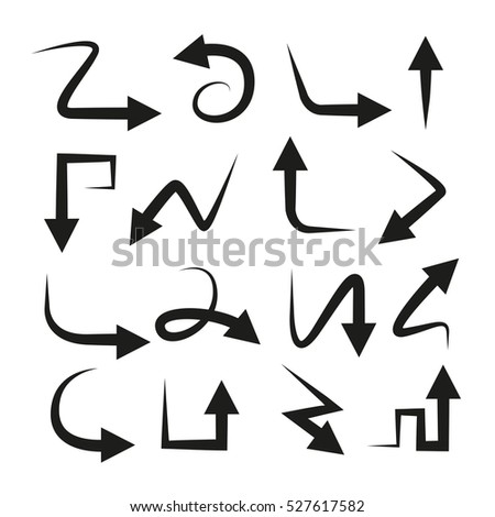 vector of curved arrow icons