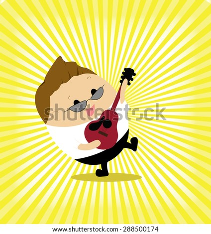vector of cute man acting as