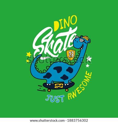 vector of dino  skate  animal