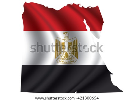 vector of egypt flag blowing in
