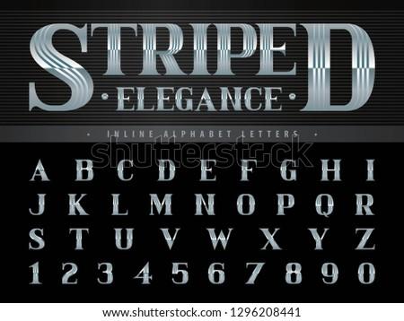 Inline Retro Alphabet Vector - Download Free Vector Art, Stock