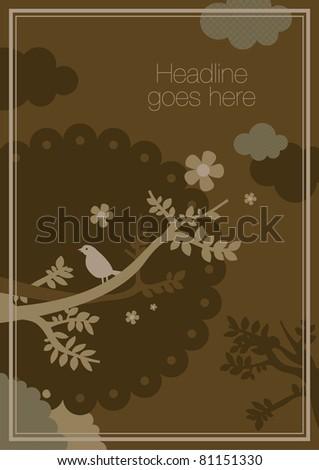 vector of elegant stylish nature background