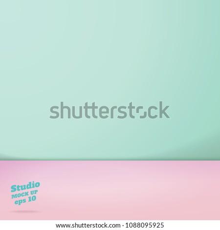 vector of empty pastel green