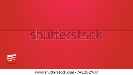 Vector of Empty vivid red studio room background ,Template mock up for display of product,Business backdrop. - Shutterstock ID 741202909