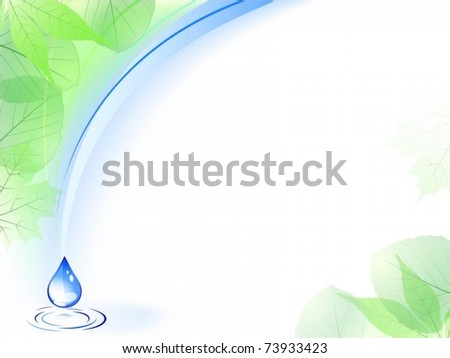 Vector of environmental card with water drop