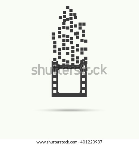 vector of filmstrip symbol or