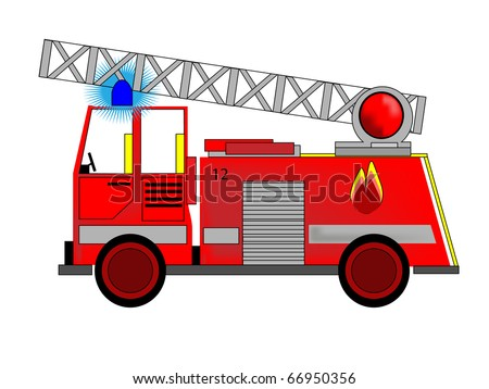 Vector of Fire Engine