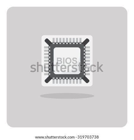 Vector of flat icon, BIOS Chip on isolated background