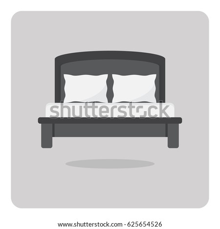 vector of flat icon  modern bed