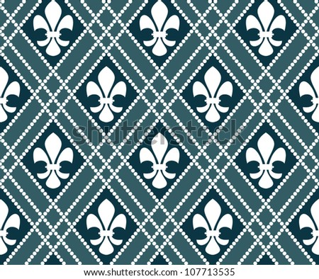Vector of fleur de lis seamless pattern