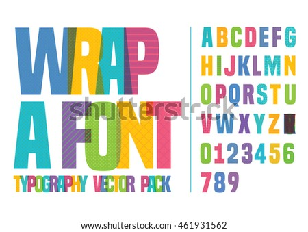 vector of font and alphabet in