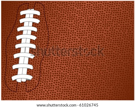vector of football textured background with laces