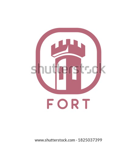 vector of fort logo design eps