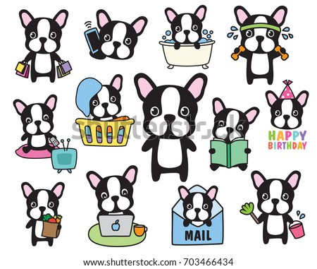 vector of french bulldog or