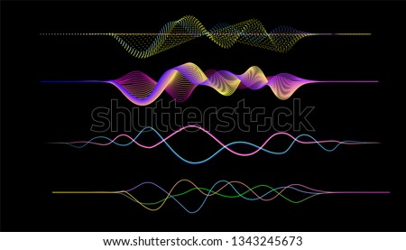 vector of frequency audio music equalizer digital .digital music player waveform, hud for sound technology or tune bar, recorder signal. Song studio or music sound theme