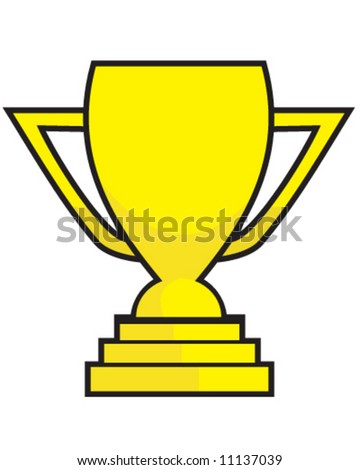 vector of gold cup trophy for job well done