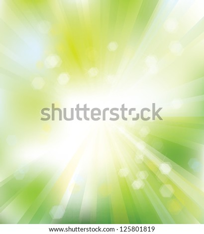 Vector of green background for spring design - stock vector