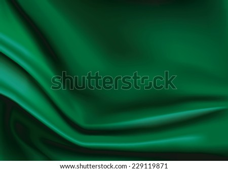 vector of green silk fabric