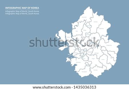 vector of gyeonggi-do map. korea map. seoul map.