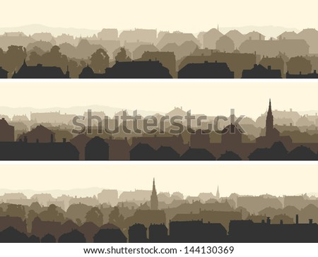 vector of horizontal banners