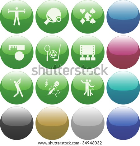 Vector of Icon set, also provided in other colors