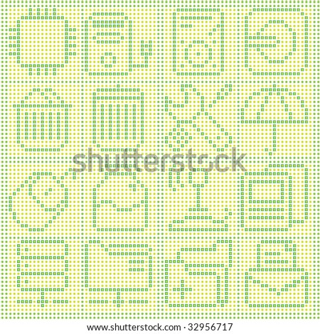 Vector of Icons made by pixel Dots