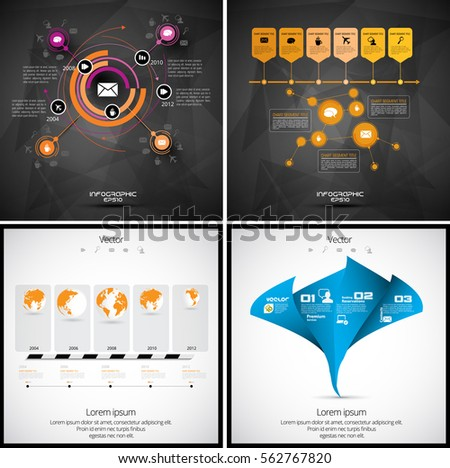 vector of infographics