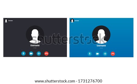 Vector of iphone Video call screen template