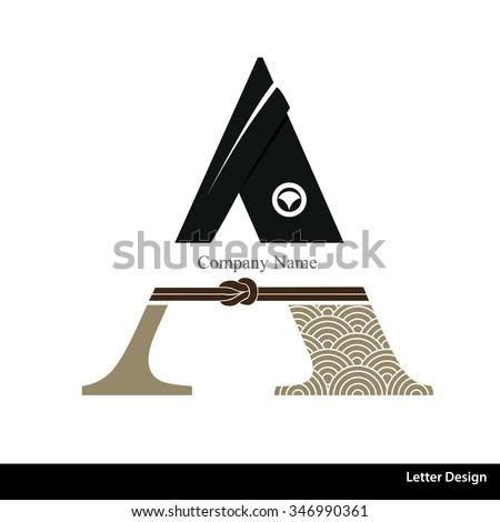 vector of kimono style alphabet