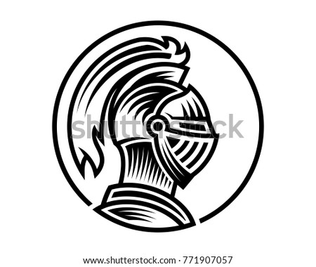 vector of knight helmet  could