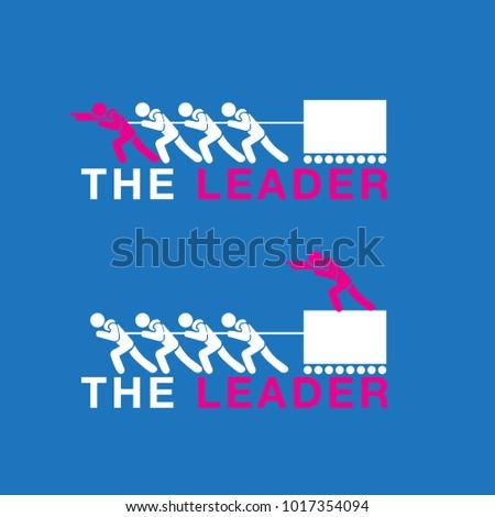 vector of leader vs boss