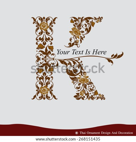 vector of letter k in the old
